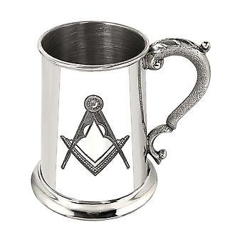 Masonic Pewter Tankard - 1 Pint