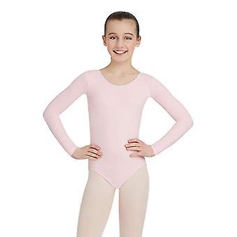 Capezio Big Girls' Team Basic Long Sleeve Leotard,, Pink, Size Large (12/14)