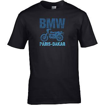 BMW Paris Dakar - Motorcycle Motorbike Biker - DTG Printed T-Shirt
