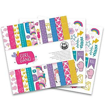 "Piatek13 12""x12"" Paper Pad - Girl Gang 12x12, 12 Sheets"