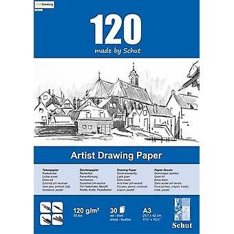 Schut Artist Drawing Paper 120 gram A3 bloc a 30 sheets