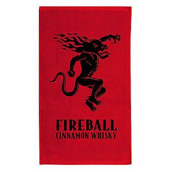 Fireball Whisky Red Beach Towel