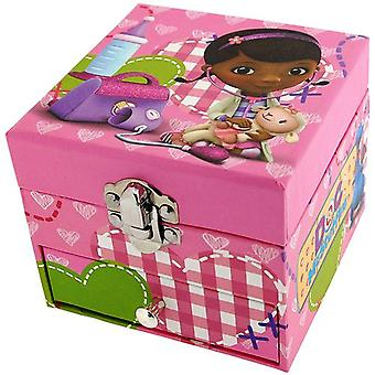 Doc McStuffins Girls Jewellery Trinket Box With Mirror & One Drawer