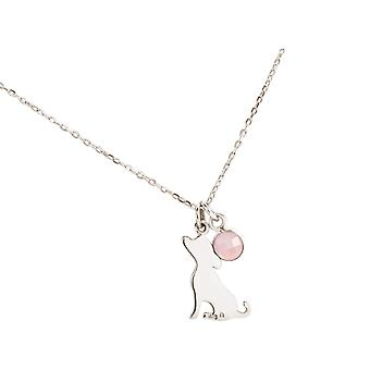 Chain Jack Russell Terrier dog pendant 925 silver, gold plated, rose, rose quartz