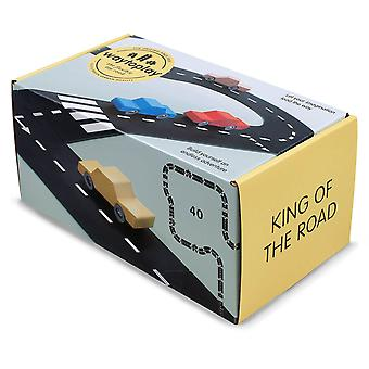 waytoplay king of the road flexible track 40pcs race track playset for ages 3