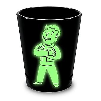 Fallout Glowing Vault Boy Shot Glass