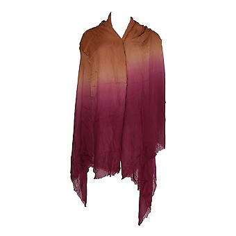 Attitudes by Renee Ombre Scarf Red Currant / Beige A344230