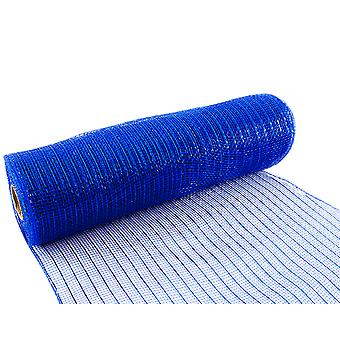 Metallic Royal Blue 25cm x 9.1m Deco Mesh Roll for Wreath Making, Floristry & Crafts