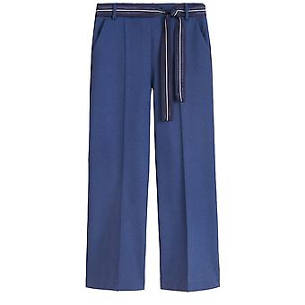 Sandwich Clothing Navy Wide Leg Trousers