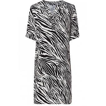 Olsen Zebra Print Shift Dress