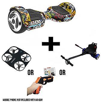 6.5&G PRO Hip Hop Bluetooth Segway Hoverboard med GoRacer Hoverkart