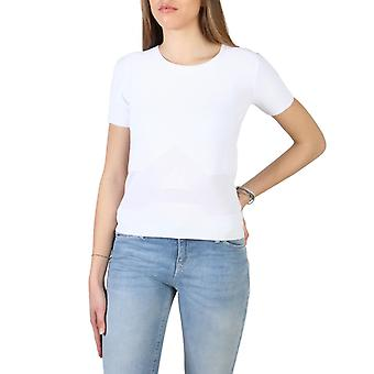 Woman elastane short t-shirt round t-shirt top aj20151