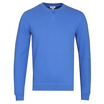 Sunspel Booth Blue Loopback Sweatshirt