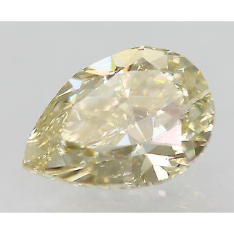 Certified 0.90 Carat J Color VS1 Pear Natural Loose Diamond 7.69x5.42mm 2VG