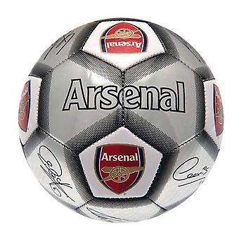 Arsenal FC silver signatur fotboll