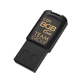 チーム C171 USB 2.0 ドライブ - ブラック