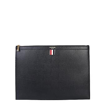 Thom Browne Mac021l00198001 Men's Black Leather Document Holder