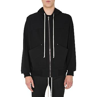 Rick Owens Ru20f3281ba09 Men's Black Cotton Sweatshirt