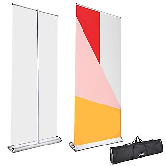 """Yescom 33"""" x 79"""" Rustproof Aluminum Retractable Roll Up Banner Stand Wide Base with Bag Exhibition Fair Tradeshow"""