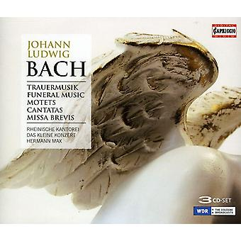 J.L. Bach - Johann Ludwig Bach: Trauermusik; Motets; Cantatas; Missa Brevis [CD] USA import