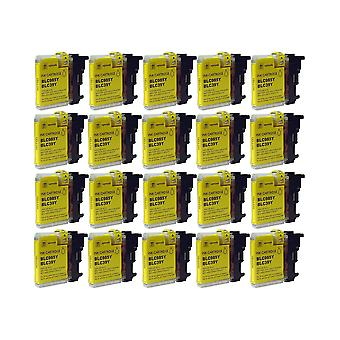 RudyTwos 20x Replacement for Brother LC-985Y Ink Unit Yellow Compatible with MFC-J220, J265W, J410, DCP-J125, J315W, J415W, J515W