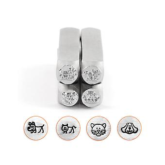 Impressart Dogs And Cats Design Stamp Set 6mm Pack of 4