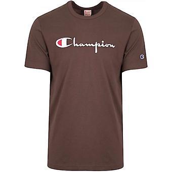 Champion Reverse Weave Aubergine Big Script T-Shirt