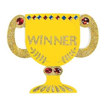 12 Colour Your Own Trophy Awards voor Kids Crafts