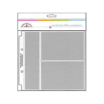 Doodlebug Design Horizontal Photo / Recette Carte Protecteurs 8x8 Pouces (12pcs) (3498)