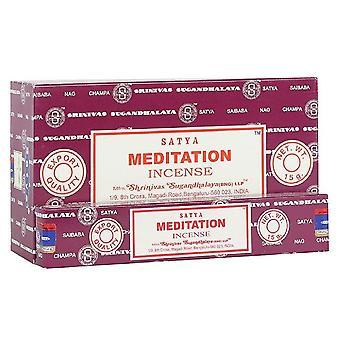Something Different Satya Meditation Incense Sticks (Box Of 12 Packs)