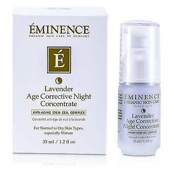 Lavender age corrective night concentrate for normal to dry skin, especially mature 164820 35ml/1.2oz
