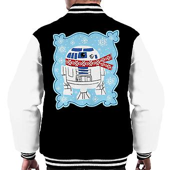 Star Wars Christmas Frosty R2 D2 Men's Varsity Jacket