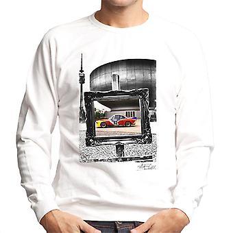 BMW Art Car Calder musta ja valkoinen runko miesten svetaripaita