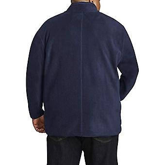 Essentials Men's chaqueta polar polar de cremallera grande y alta en forma de DXL,...