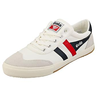 Gola Badminton Mens Casual Trainers in White Navy Red