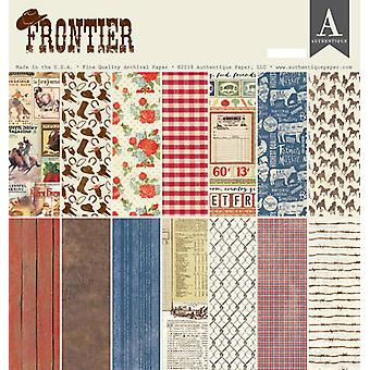 Authentique Frontier 12x12 pulgadas De papel Pad