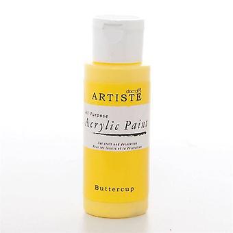 Peinture acrylique Docrafts (2oz) - Buttercup (DOO 763203)