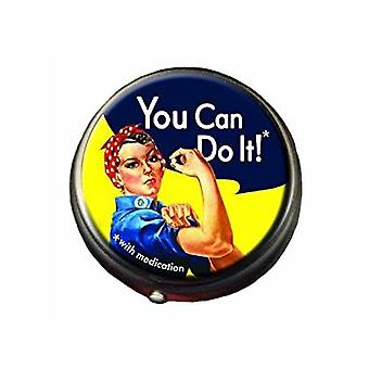 Pill Box - Rosie the Riveter - Medisin Sak Ny 3583