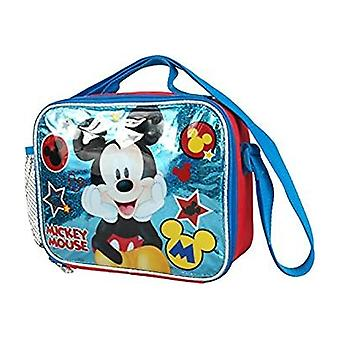 Lunch Bag - Disney - Mickey Mouse - Blue Stars Kit Case New 683597