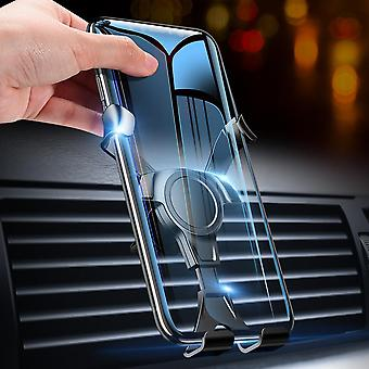 Floveme gravity linkage automatic lock 360º rotation air vent car phone holder for 4.0-6.8 inch smart phone for  iphone for samsung huawei xiaomi