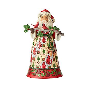 Jim Shore Heartwood Creek Santa With Cardinals Statue Figurine