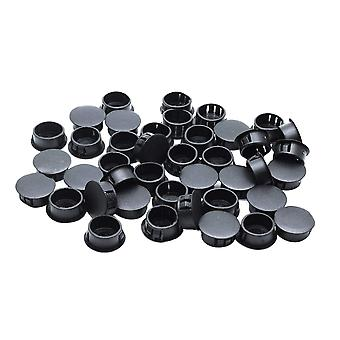 250PCS 8mm Nylon Plastic Panel Plug Hole Plug Black