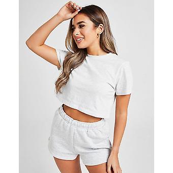 Nya McKenzie Kvinnor & apos, s Essential Crop T-Shirt Grey
