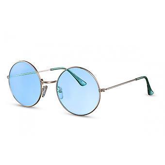 نظارات شمسية المرأة جولة Cat.2 الفضة / الأزرق (CWI1587)