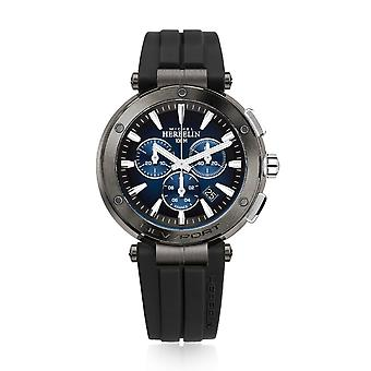 Michel Herbelin 37688-GA35CA Men's Newport Chronograph Black Strap Wristwatch