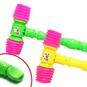 25cm roligt buller maker plast slitstarkt handtag hammare, inbyggd whistle kids