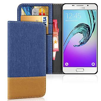 Samsung Galaxy A3 (2016) Stoßfester Schutz Denim Full Cover Shell Mobile Protection TPU