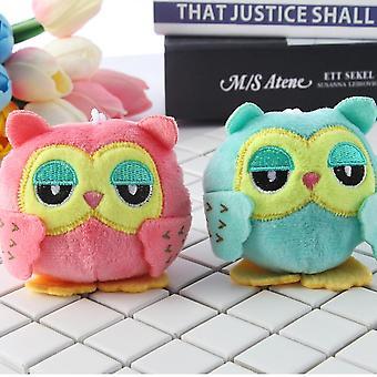 Plush Stuffed Animal Owl Key Chain Toys   Small Pendant Dolls  Wedding Party Toys For Children