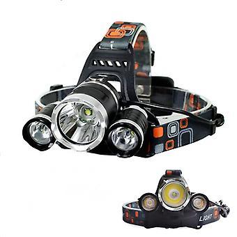 8000Lm 3 LED T6 Headlamp con batteria ricaricabile 2x18650 e caricatore US/EU/UK/AU