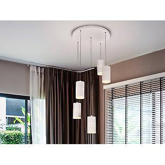 Integreret LED Spiral Cluster Drop Loft Vedhæng Hvid